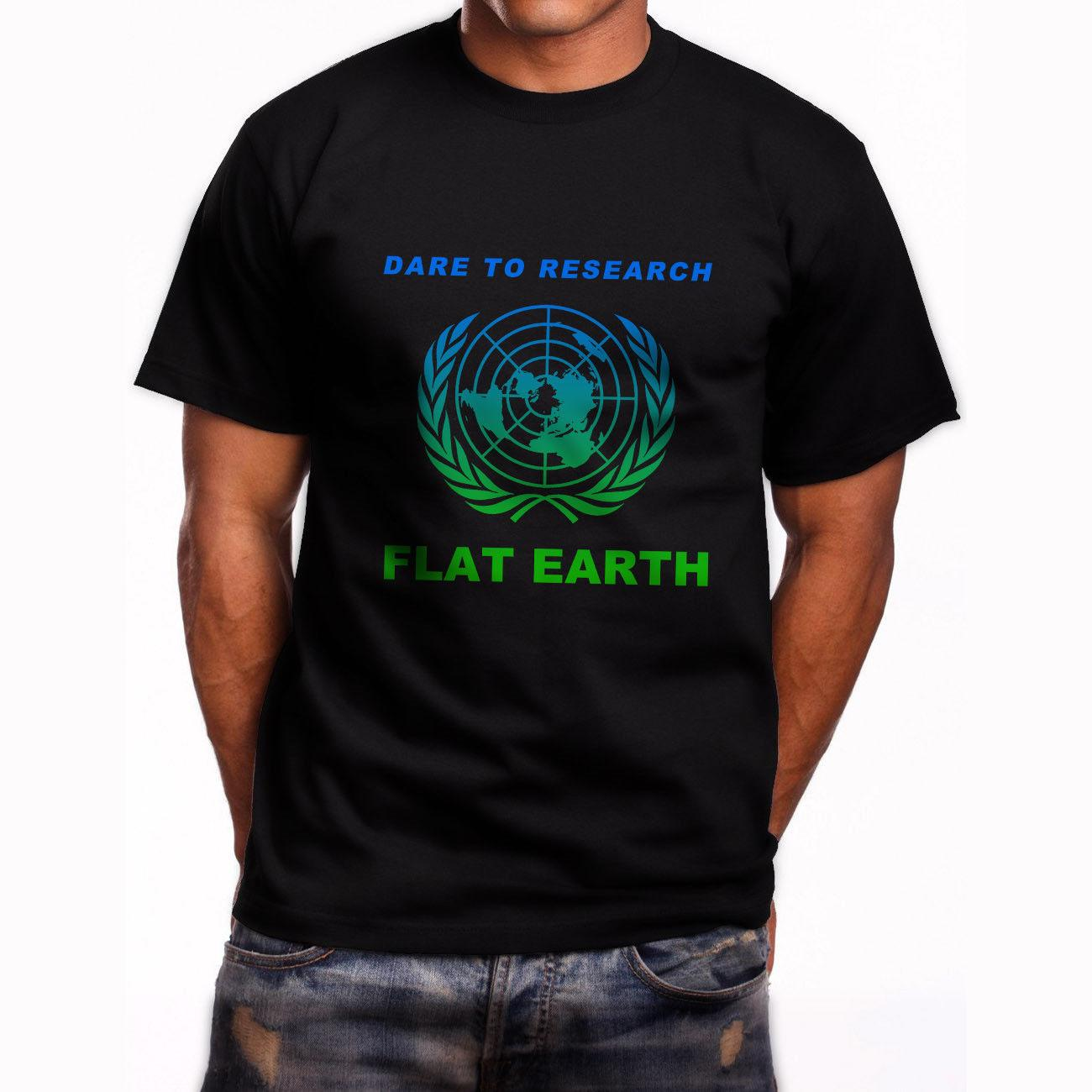 42c61d48 Research Flat Earth Conspiracy Illuminati Short Sleeve Black T Shirt S 5XL  Casual Male Tshirt Men Tops Tees Tees Cute T Shirts Nerd T Shirts From ...