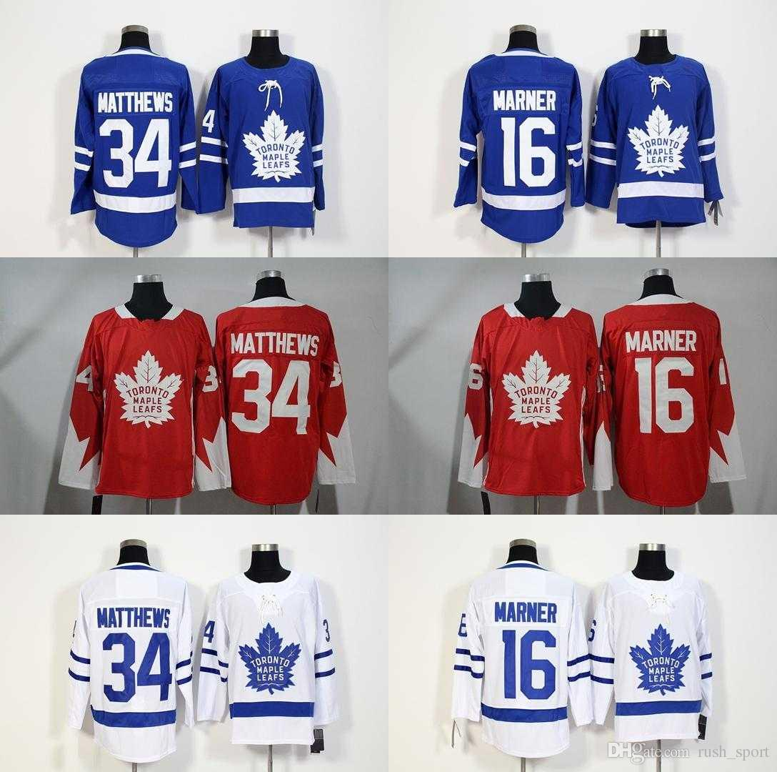 7bebe6deaa8 2018 ARETNAS AD Toronto Maple Leafs Cheap Hockey Jerseys MATTHEWS 34 ...
