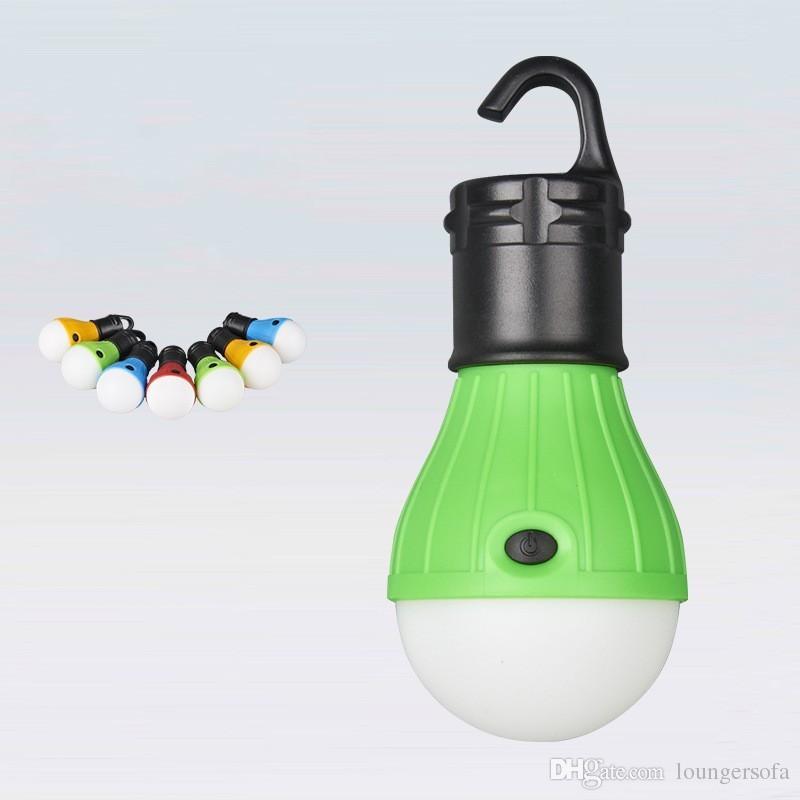 Plastic Tent Night Lamp Bulb Shape Mini LED Light Comfort Rubber Switch Energy Saving Hanging Lamps Top Quality 4jb B