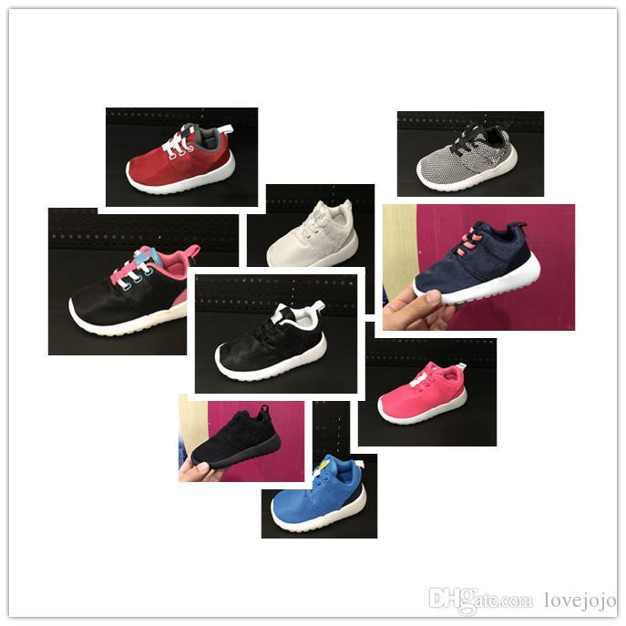 buy online eda30 f6bd1 Acheter Nike Roshe Run Rosherun 2018 Vente Chaude Infantile Enfants Baskets  Chaussures De Course Bébé Garçons Filles Sports Chaussures Enfant En Bas  Âge ...