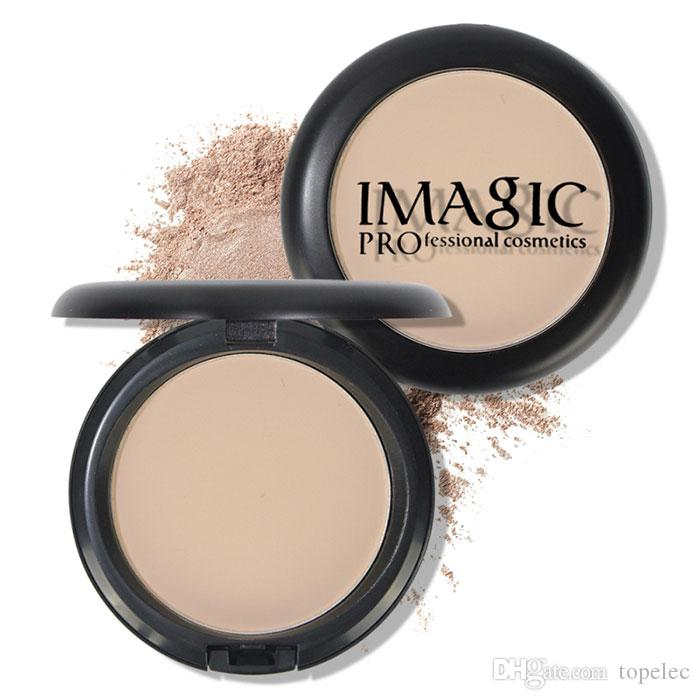Best Quality IMAGIC Natural Brand 4 Colors Face Base Pressed Powder Makeup Matte Shimmer Fix Palette Concealer Powder Nude Compact Cosmetics