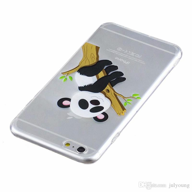 Panda Soft TPU Case For Iphone X 8 7 Plus 6 6S Plus SE 5 5S Butterfly Elephant Owl Clear Silicone Unicorn Luxury Skin Phone Covers Cartoon