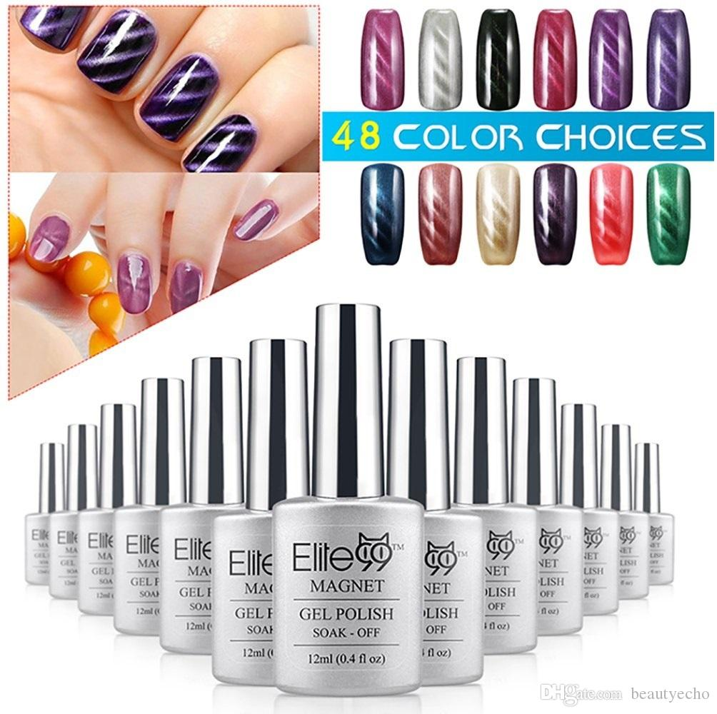 Elite99 12ml Magnetic Effect Gel Polish Magic 3d Magnet Led Cat Eye ...