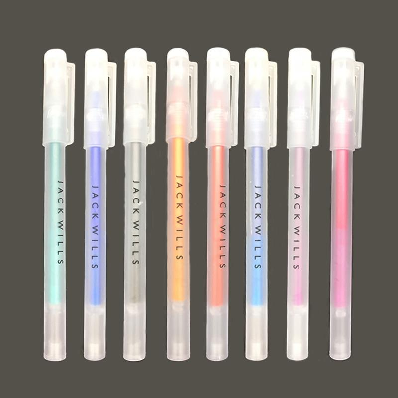 Xiamei 4 PCS Erasable Pen Student Stationery 0 5mm Writing Chancery Pen 8  Colors Heat Sensitive Gel for School