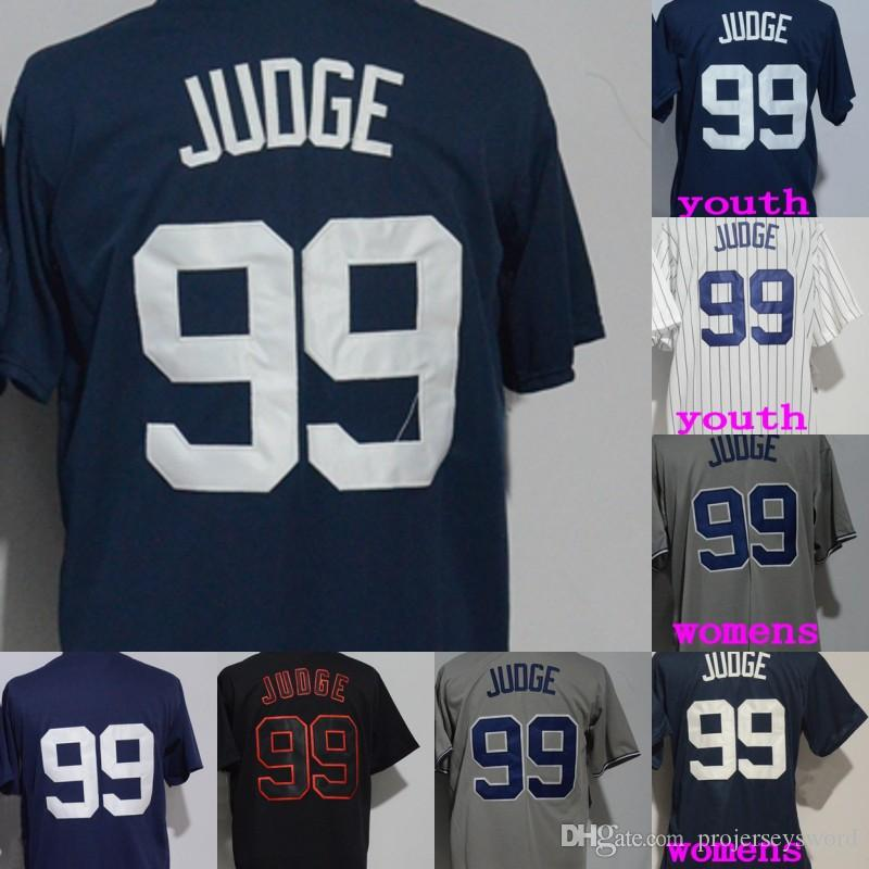2019  99 Aaron Judge Jersey Mens Womens Youth New York Aaron Judge 100%  Stitched Baseball Jerseys Cheap White Navy Grey Blue S XXXL From  Projerseysword f7b2d27773b