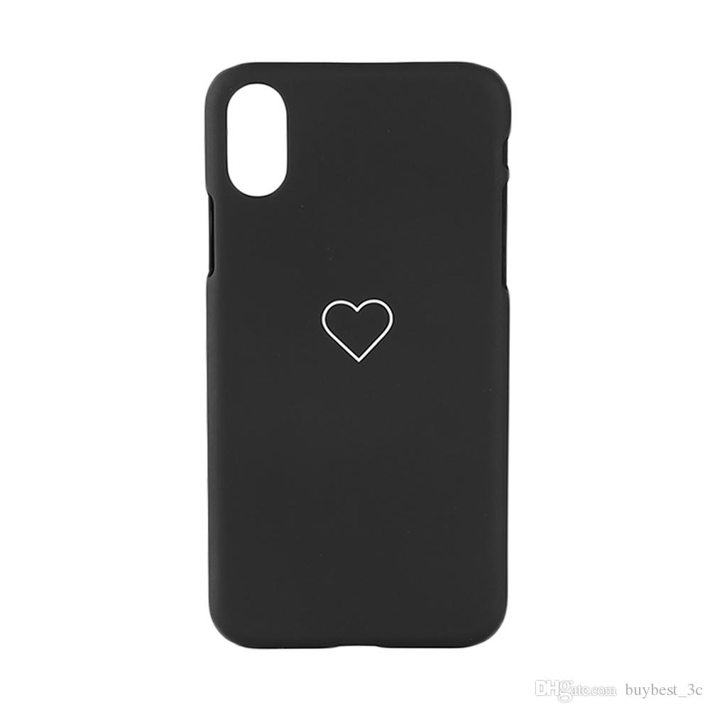 Love Heart Phone Case For Iphone 7 8 Plus X Couples Cell Phone Back
