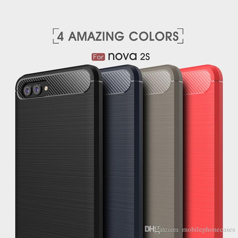 CellPhone Cases For Huawei nova2s TPU Carbon Fiber heavy duty shockproof case for huawei nova2s cover