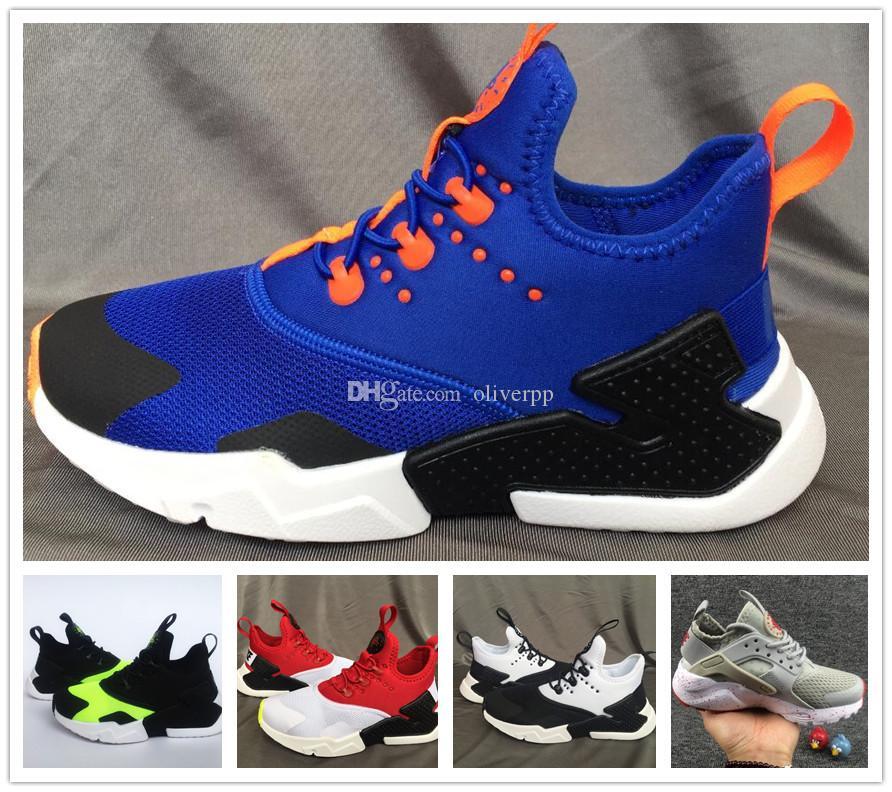 bb1f2132fa25 2018 New Children Air Huarache IV 4.0 Ultra Running Shoes Huraches Boys  Girls Shoes Baby Kids Triple Huaraches Sneakers Kids Tennis Shoes Online  Kids ...