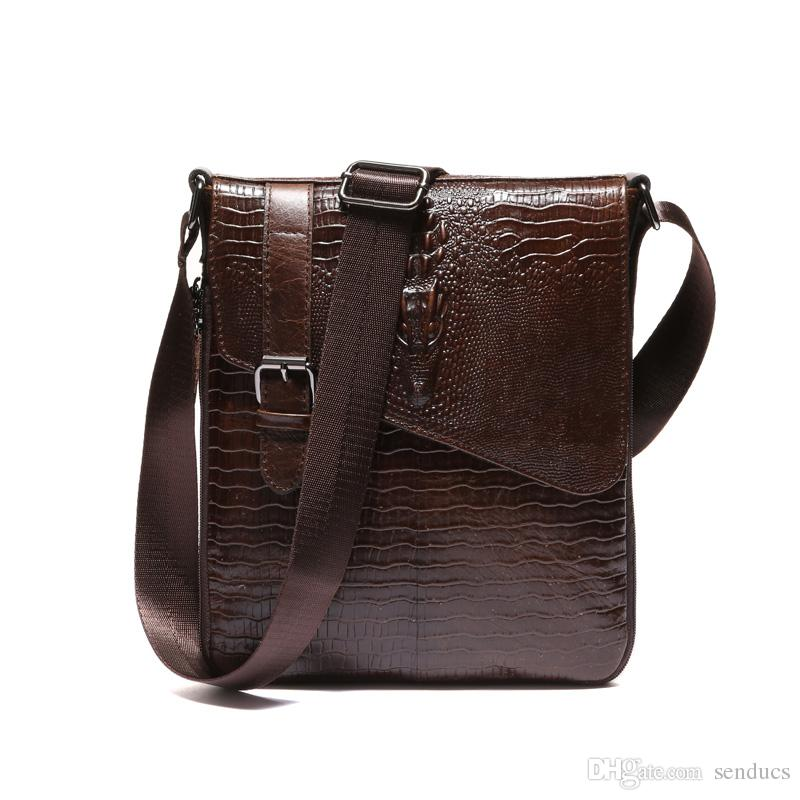 9d718c341377 Fashion Men S Bags Genuine Leather Male Crossbody Bags Strap Small Casual  Flap Men Leather Messenger Bag Men S Shoulder Bag Bags Purses From Senducs