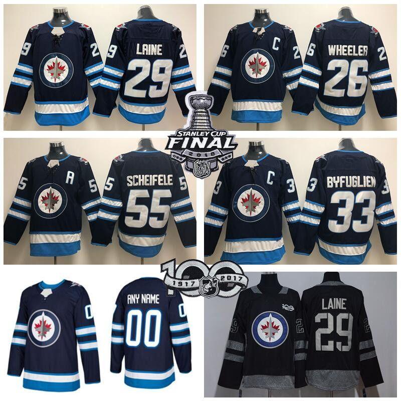 best deals on 1e96a ac39a 2018 Stanley Cup Winnipeg Jets Jersey Patrik Laine Mark Scheifele Dustin  Byfuglien Blake Wheeler 100th Centennial 2016 Heritage Classic Man