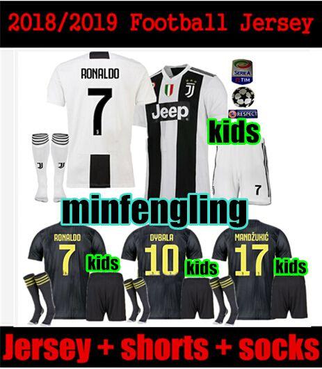 779ccfe6f KIDS 2018 Juventus Ronaldo Soccer Jersey Adult Kids SHORTS SOCKS 18 19  HIGUAIN DYBALA D.COSTA MANDZUKIC MATUIDI KIDS Set Away Third Football  Jersey Soccer ...