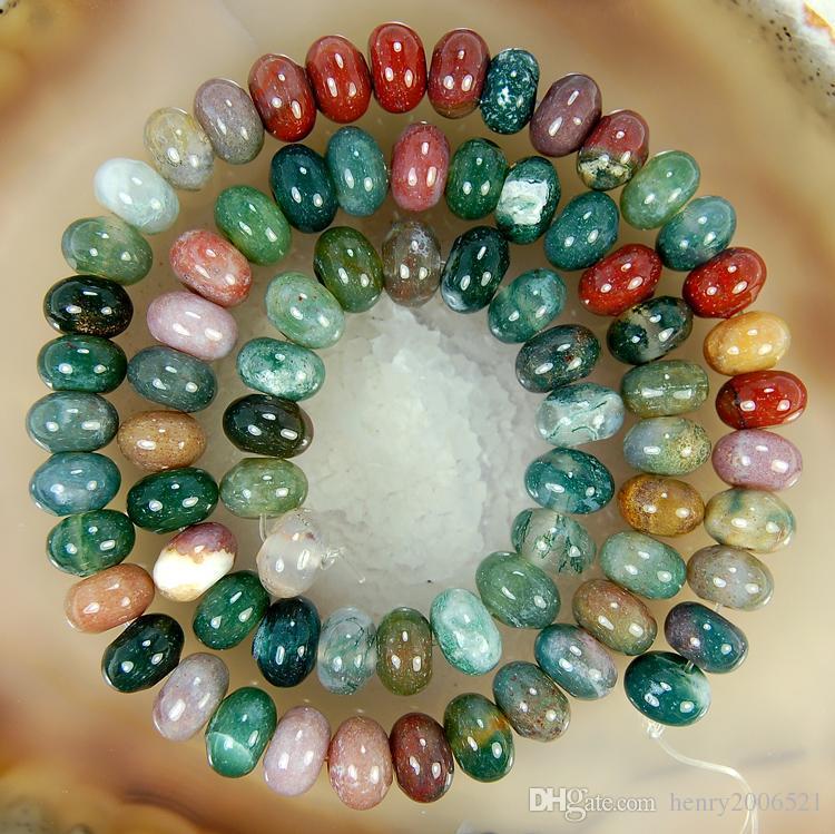 Fai da te semilavorati 4x6mm Multicolor Natural India RARE Agata Onice Abacus Gemstone Branello allentato 15 pollici