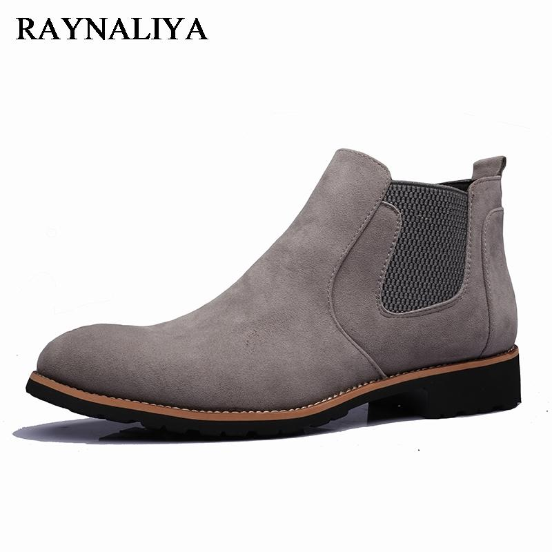 48a2f388884 2018 New brand Winter Personality Genuine Split Leather Formal Chelsea  Ankle Boots Shoes Men Martin Boot Shoes LMX-A0031