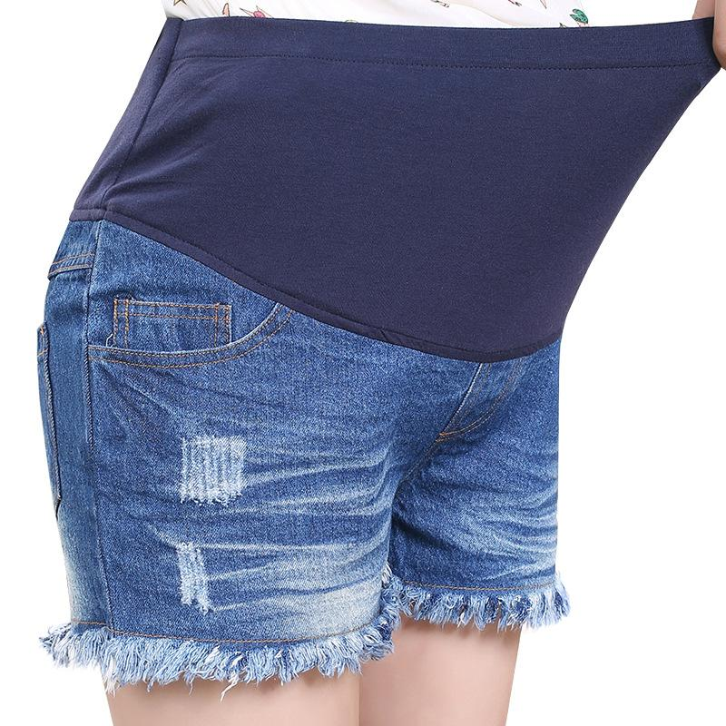 d286ad7d99 2019 2017 Summer New Maternity Clothes Pants For Pregnant Women Take The  Belly Pregnancy Shorts Jeans Loose Large Comfortable Pants From Jeanyme, ...