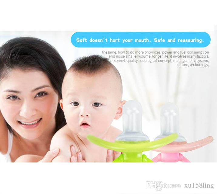 Baby silica gel PacifierBaby comforts the nippleA pacifier with a round headFree shippingSoothing mood, no mouth injury, safety and innocuit