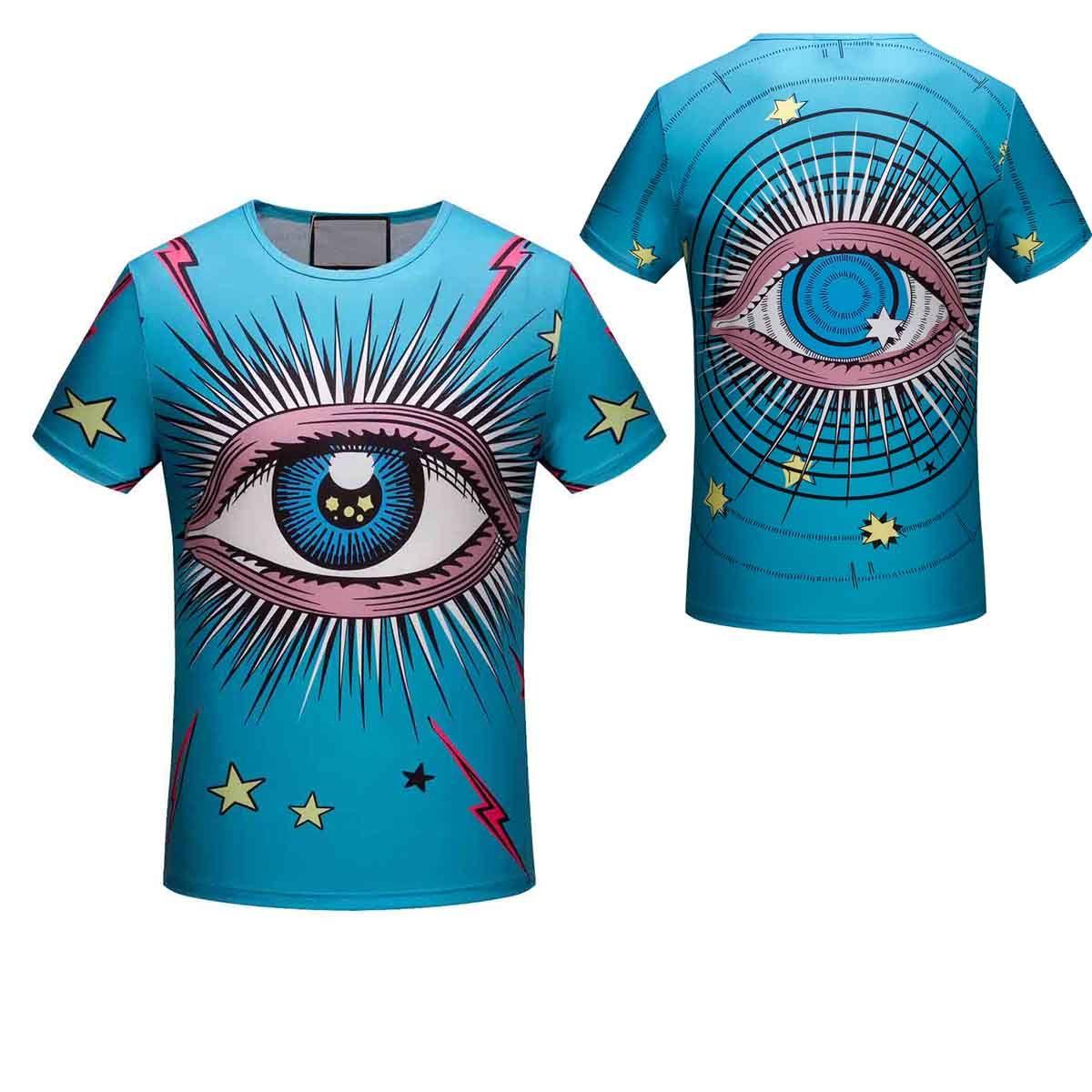 ab9fe41b32bf Fashion Brand Men Short Sleeve T Shirt Little Funny Eyes Print High ...