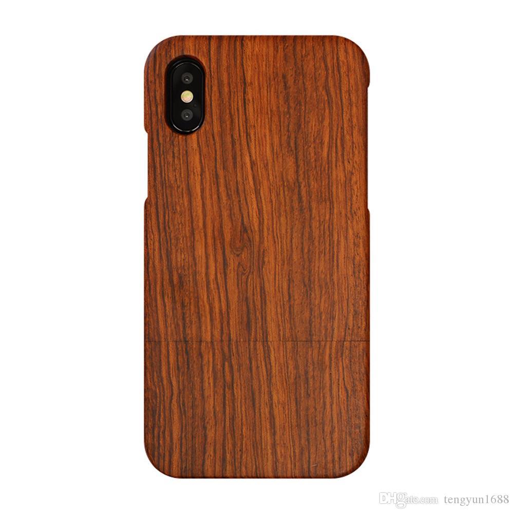 eb369f5963c Fundas Para Celulares Para Iphone Carcasas De Madera Funda De Madera Con  Material De Madera De Rosa Natural Y Diseño Único Tallado Compatible Con  IPhone X ...