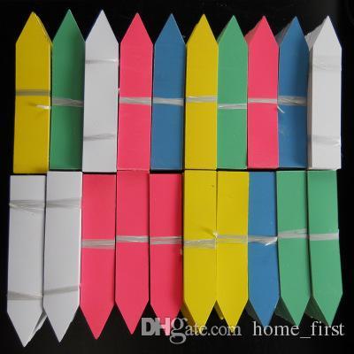 Kreş Ortamı Renkli 100 Adet / grup Plastik Çiçek Etli Bitki Etikel Bahçe Eklemek Sitesi Etiket Süsleme Etiketleri 4 Boyutu 5 Renk