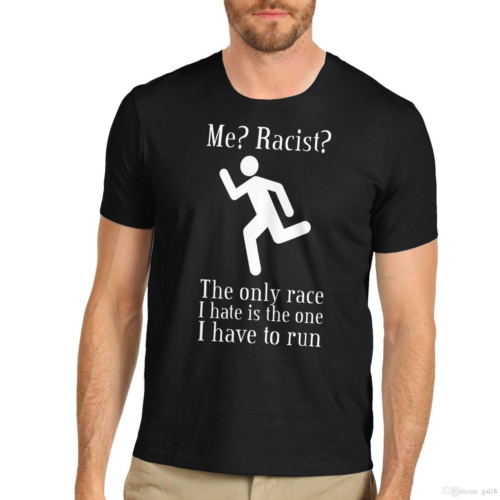 1f14a64dfce8d T-shirt rigolo pour homme, race raciste