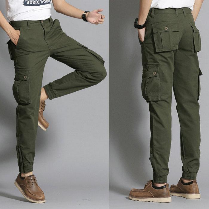78f1822dd44 2019 Cotton Men S Cargo Pant Fashion Cigarette Trousers Casual Ankle Banded  Pants Outdoor Sport Pants Camouflage Cargo Pant Autumn Winter Pants From  Wrjmike ...