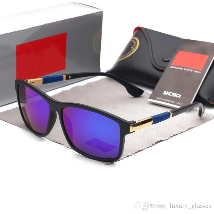 High Quality Polarized Lens Fashion Sunglasses For Men and Women Brand Designer Eyewear Glasses Mirrored Sun Glasses With Case And Box
