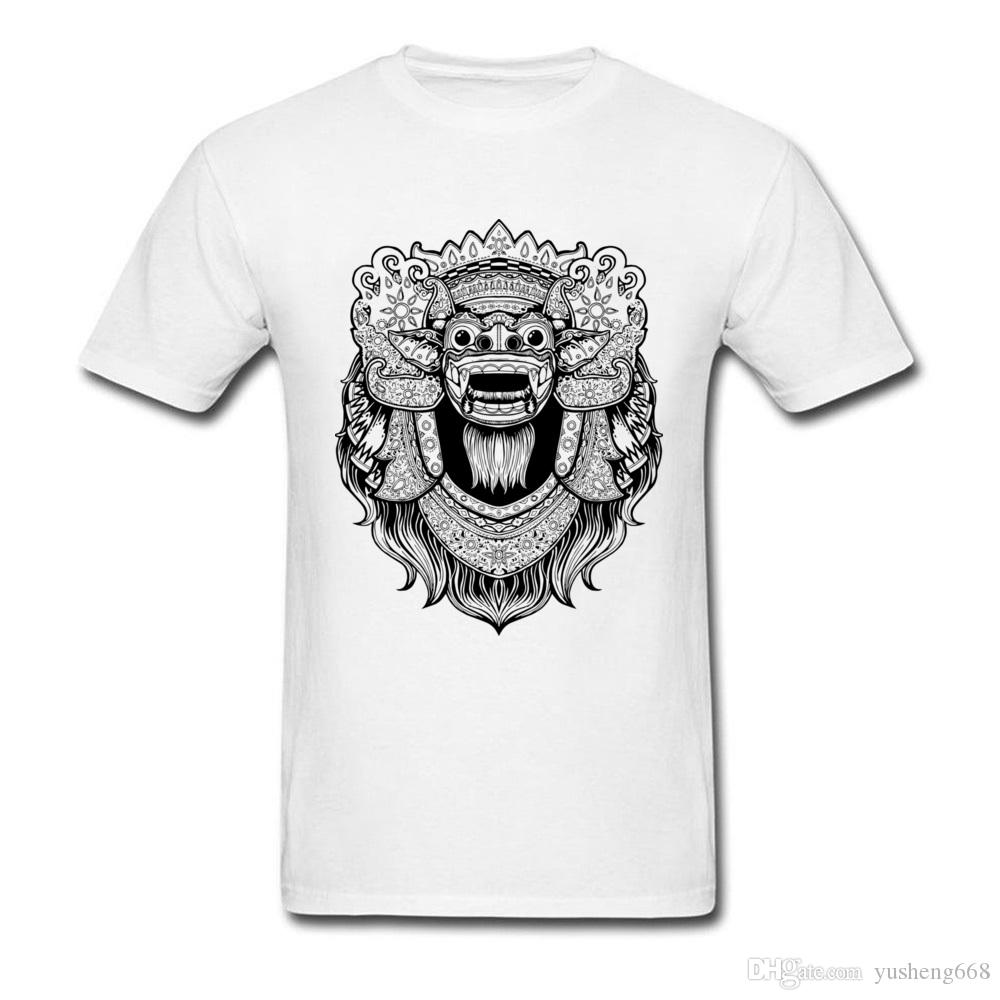The Barong Drawing T Shirts For Adult Custom Boy Full Cotton Tee