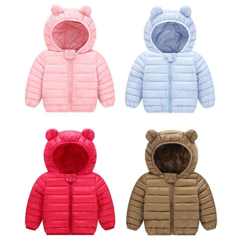 1b18475fe Cheap 2018 Winter Down Jacket For Boys Girls Winter Outerwear Coat Cartoon  Rabbit Ear Hooded Down Coat Jackets Girls 2-6 Years