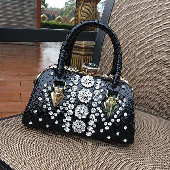 b96d0569ce91 Designer Handbags Crossbody Black Tote Shoulder Bag Diamond 2018 Brand  Fashion Luxury Designer Bags Ladies Cross Body Bags For Women Designer  Purses Satchel ...