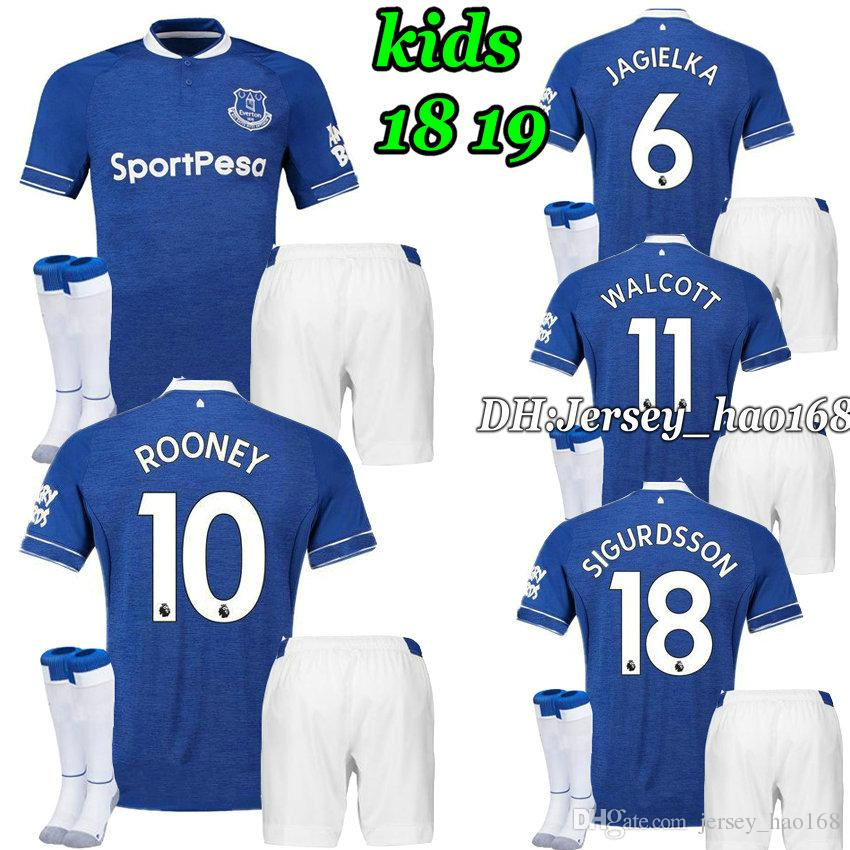 promo code 593c5 2d07c 18 19 kid kits Walcott everton Soccer jersey 18 19 home SIGURDSSON CENK  TOSUN Zouma Andre Gomes Digne Mina Child BOYS football shirts