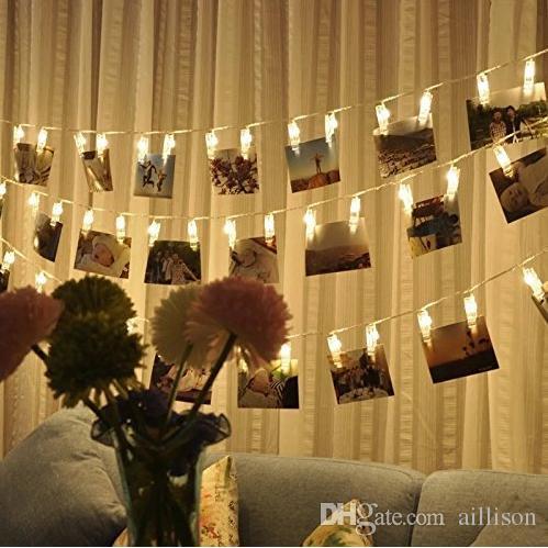 Großhandel 30 Led Foto Clips Lichterkette Weihnachtsbeleuchtung  Sternenlicht Wanddekoration Licht Für Hängende Fotos Gemälde Bilder Karte  Und Memos Von ...