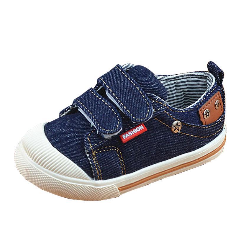 Acheter Enfants Chaussures Pour Filles Garçons Baskets Jeans Toile Chaussures  Pour Enfants Denim Running Sport Baskets ffe042b17b91