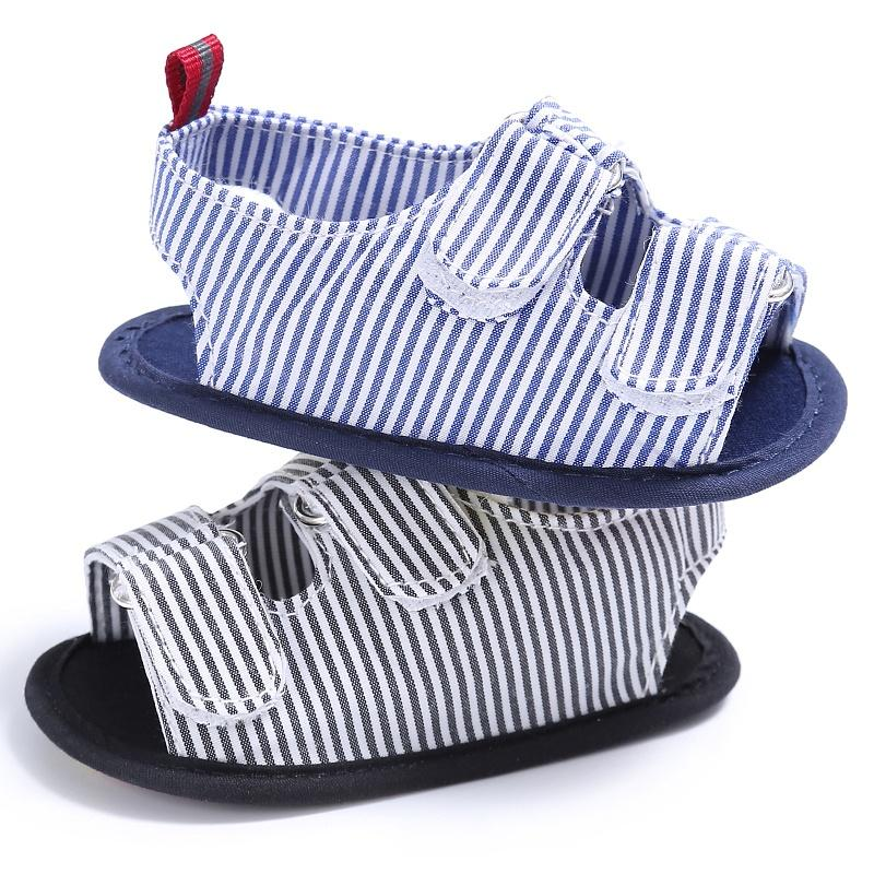d87ca5d9c24b6 Summer Holiday Beach Toddler Baby Boys Fashion Breathable Anti Slip Crib  Stripe Shoes Kids Shoes Prewalkers Sandals New