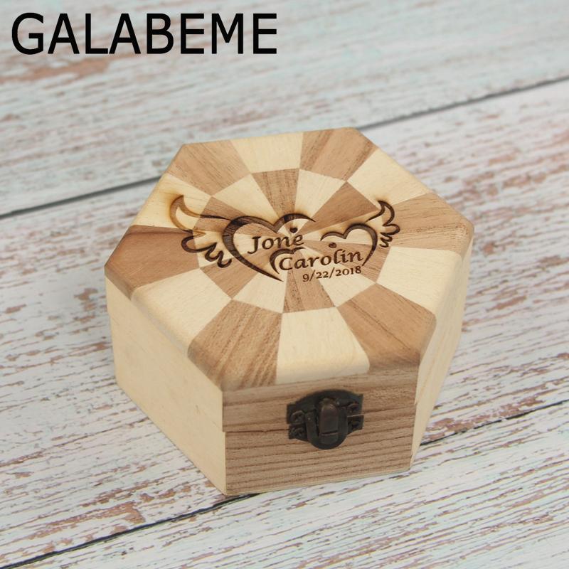 2019 Wholesale Rustic Wedding Ring Bearer Box Personalized Ring Box
