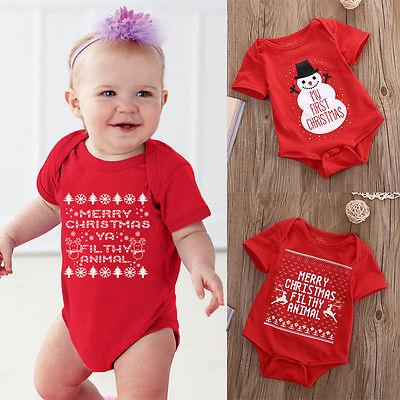 2016 Christmas Santa Claus Baby Girl Bodysuits Jumpsuits Macacao Menina New Born Infant-Clothing Cute Toddler Girl Clothes