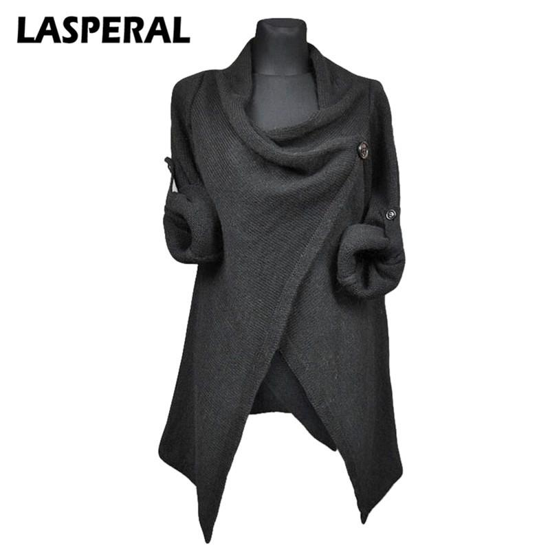 b905a6027a 2019 LASPERAL Autumn Women Sweaters Cardigan Overcoats Fashion Solid Knitted  Coat Casual Long Sleeve Irregular Grey Outerwear Sweater D1892002 From  Yizhan01 ...