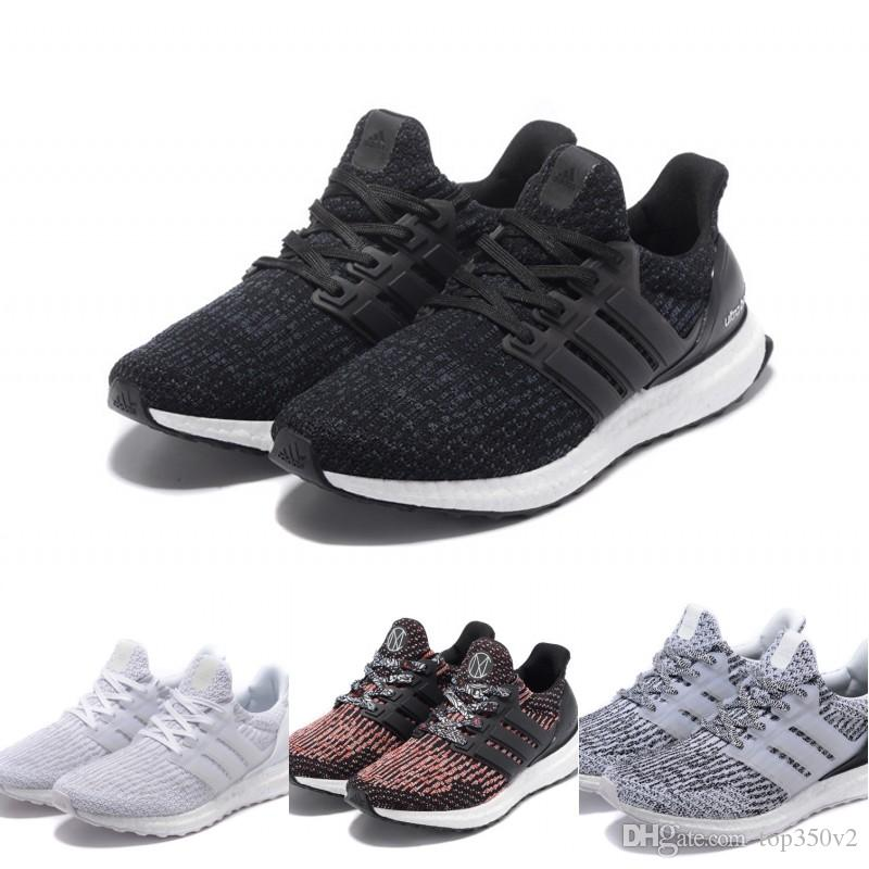 buy online 067b4 e0263 ... greece 2018 2018 adidas ultra boost 3.0 real boost continental running  shoes sports triple black white ...