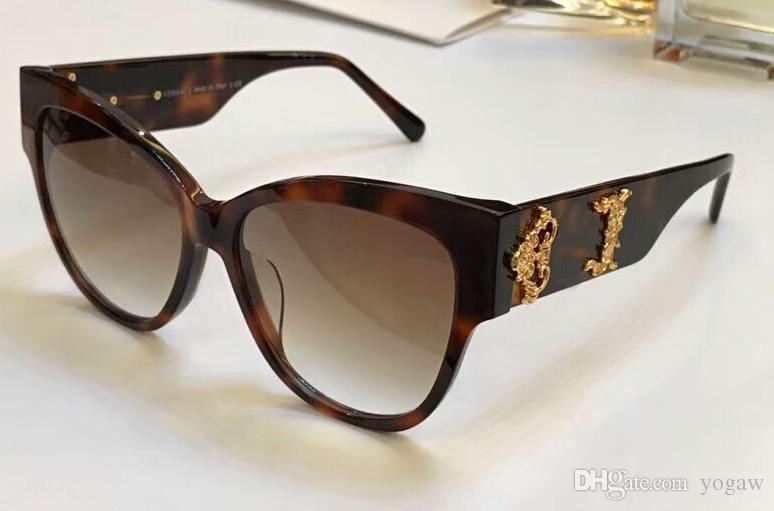 d1f667cef3e81 Women VE4322 VE/4322 Havana/Gold Cat Eye Sunglasses 55mm Sonnenbrille  Designer Sun Glasses New With Box Designer Sunglasses Sunglasses For Women  From Yogaw, ...