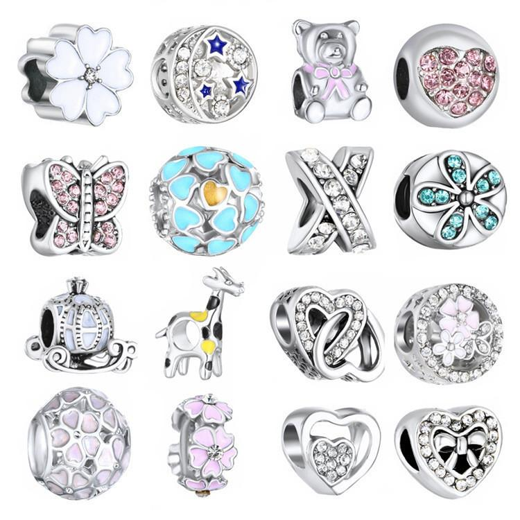 Beads & Jewelry Making The Best 50 Pcs Random Mix Styles Antique Silver Color Alloy Beads Bracelet Anklet Accessory Hot Online Discount