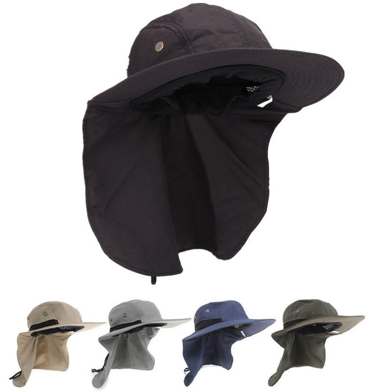 2f48f2221 Uinsex UV Protection Face Neck Cover Bucket Hat Women Men Fishing Hiking  Camping Hats Fishermen Windproof Visor Snapback Caps