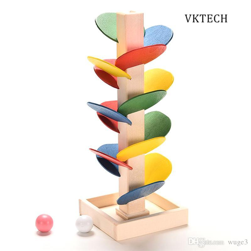 Toys For Children Wooden Toys Building Blocks Tree Marble Ball Run Track Game Educational Baby Kids Toys Wood Toy Brinquedos
