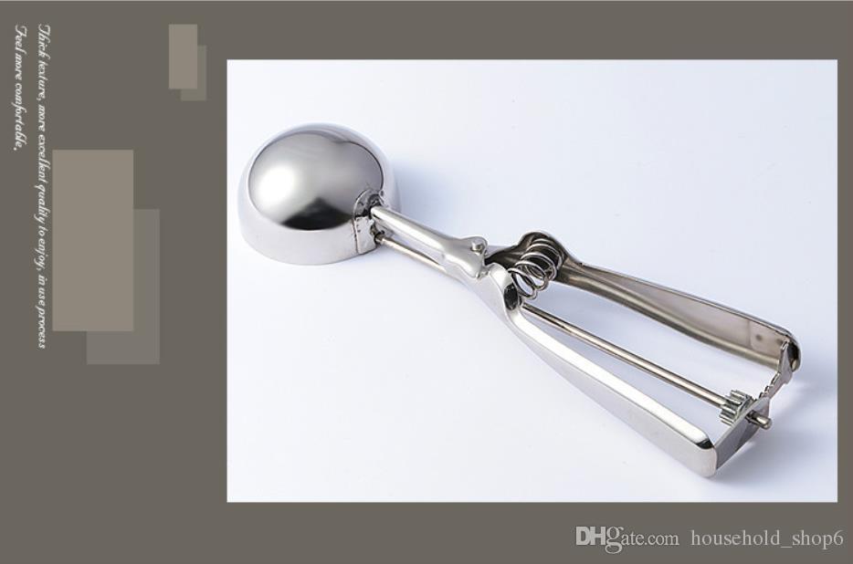 Dondurma Kaşığı Faydalı Paslanmaz çelik Scoop Çerezler Hamur Kaşık Karpuz Kaşık Boyut S M L