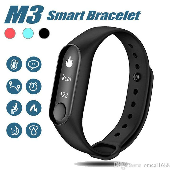 82b766b9db Newest M3 Smart Bracelet Fitness Tracker Smart Watch With Heart Rate  Waterproof Bracelet Pedometer Wristband For IOS And Android Cellphone Sleep  And ...