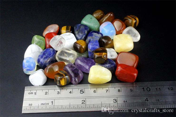200 Gramm getrommelt Stein Perlen und Bulk Assorted gemischten Edelstein Rock Minerals Crystal Stein für Chakra Heilung Kristalle und Edelsteine für Dec