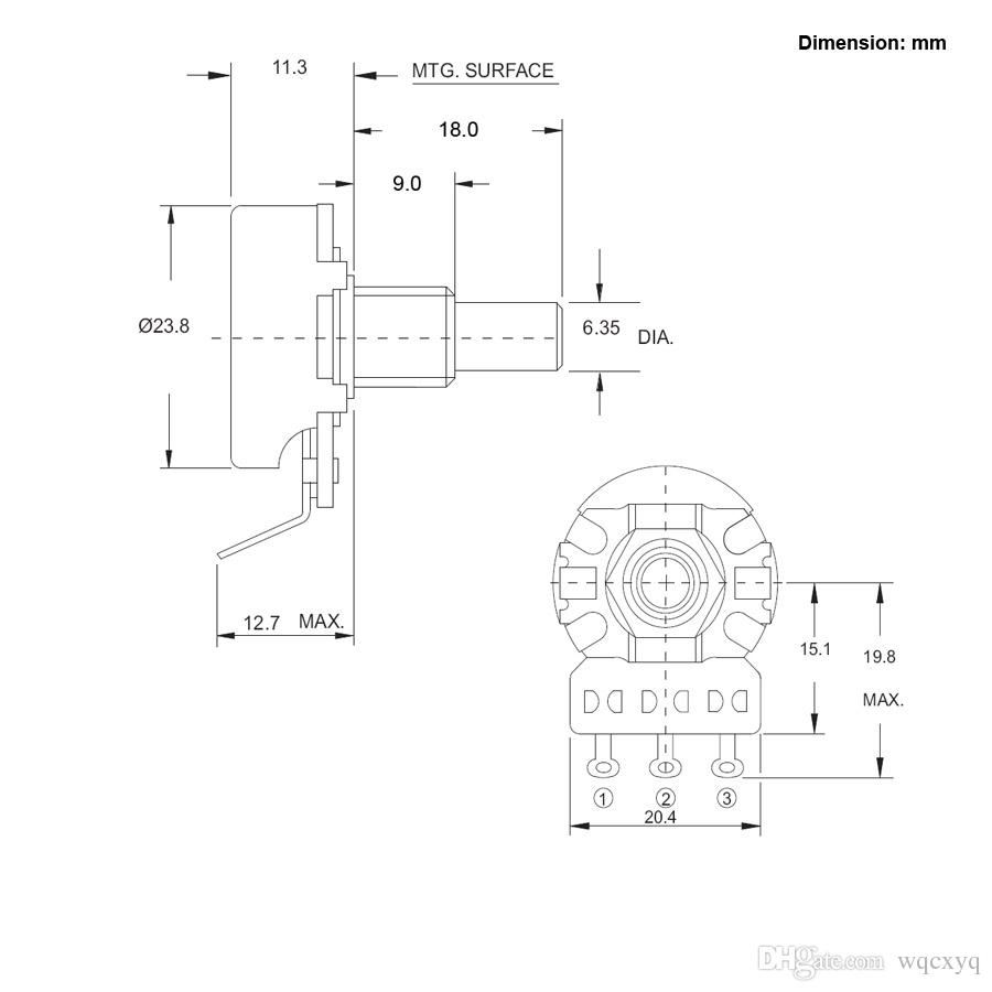 2018 Cts A500k Lb500k Big Full Size Short Shaft Pot Potentiometer Suhr Guitars Wiring Diagrams For Strato Lespaul Tele Electric Guitar And Bass From Wqcxyq 703