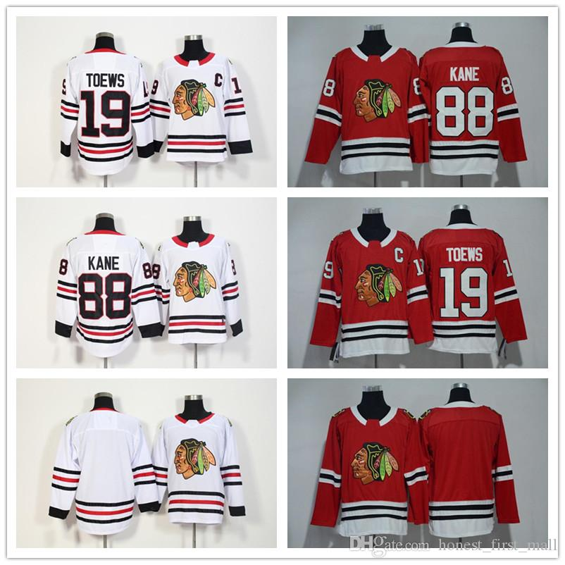 2018 New Chicago Blackhawks Jersey 88 Patrick Kane 19 Jonathan Toews Red  White Ice Hockey Jersey Men Women Youth For Cheap From Honest first mall e0771437d