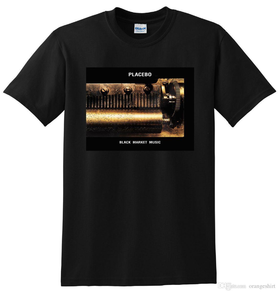 PLACEBO T SHIRT black market music vinyl cover tee SMALL MEDIUM LARGE or XL