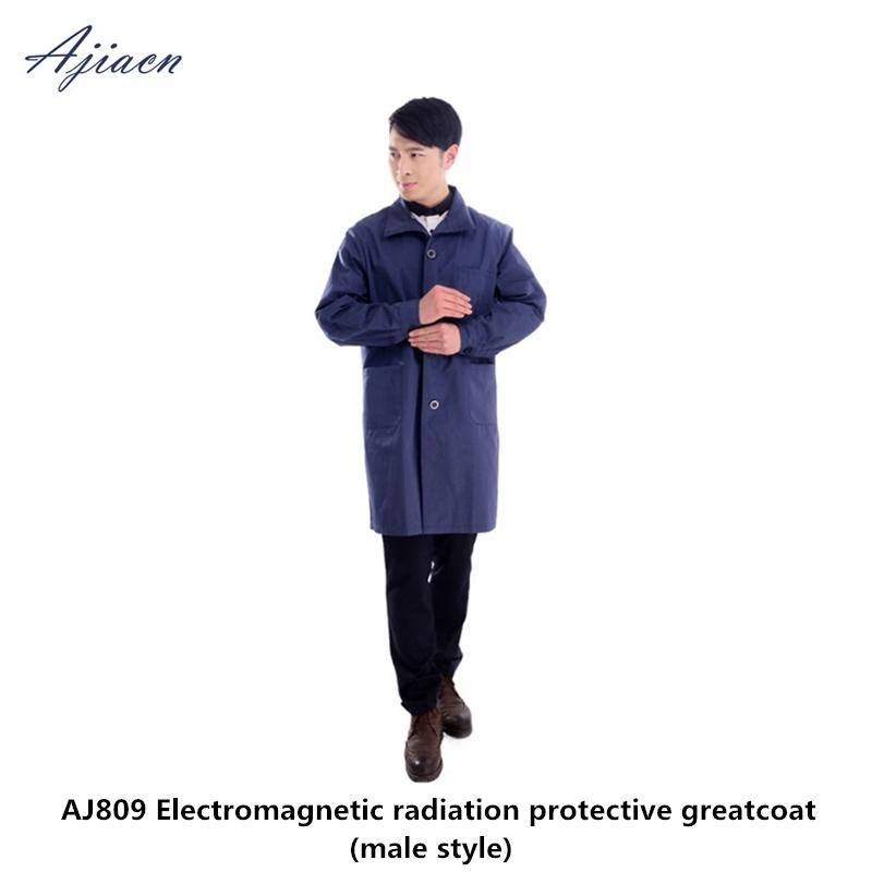 Direct Selling Men's electromagnetic radiation protective coat Laboratory  and high pressure station EMF shielding man scrubs