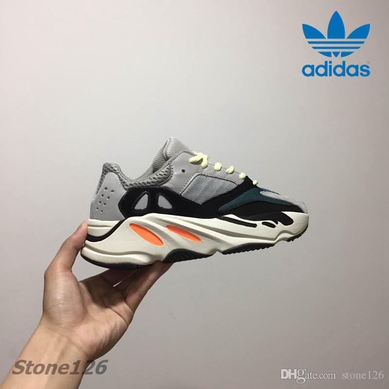 new style 576dd c4f61 Kids Adidas Yeezy Boost 700 Wave Runner Grey White Orange Og Boy Girls  Running Shoes Sport Children Trainer Kanye West 700 Boosts Sneakers Best  Trail ...