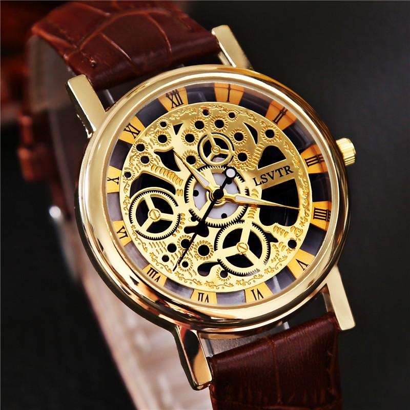Vogue double-sided hollowed Korean tide business men watch