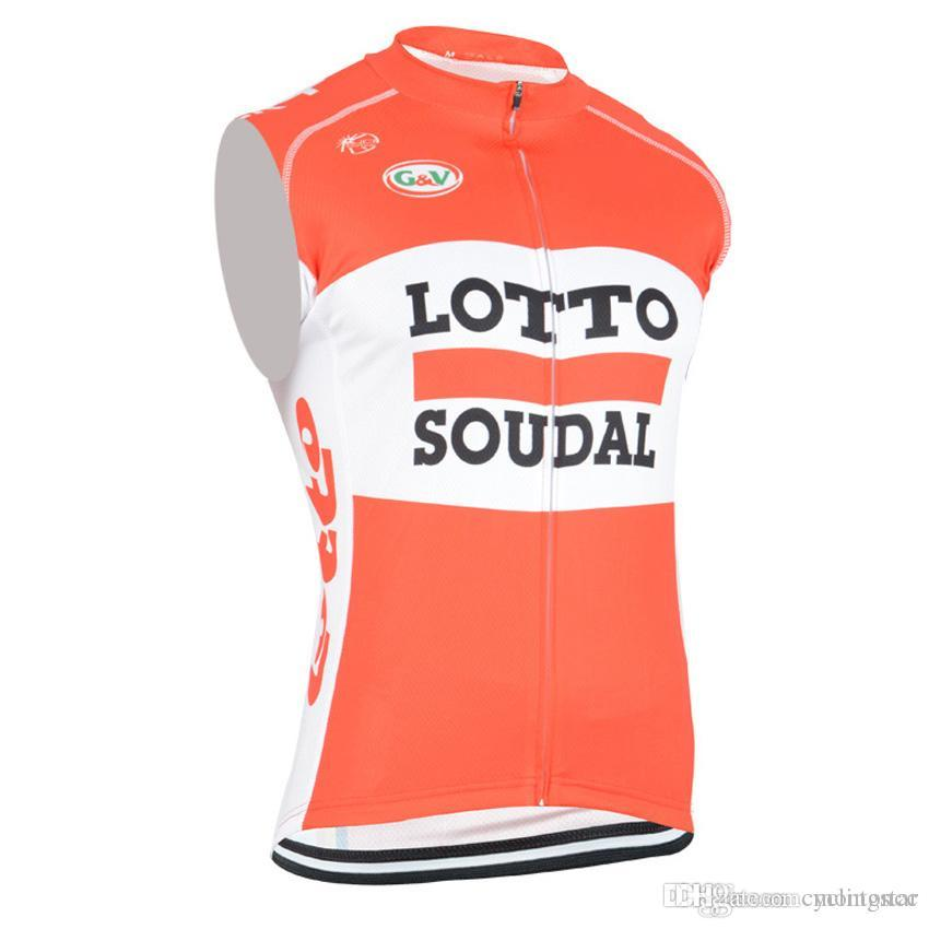 52317a43e Hot 2017 LOTTO Cycling Jersey Sleeveless Summer Men Quick Dry ...